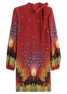 Valentino Volcano Silk Crepe Dress