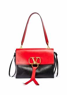 Valentino VRING Medium Colorblock Leather Shoulder Bag