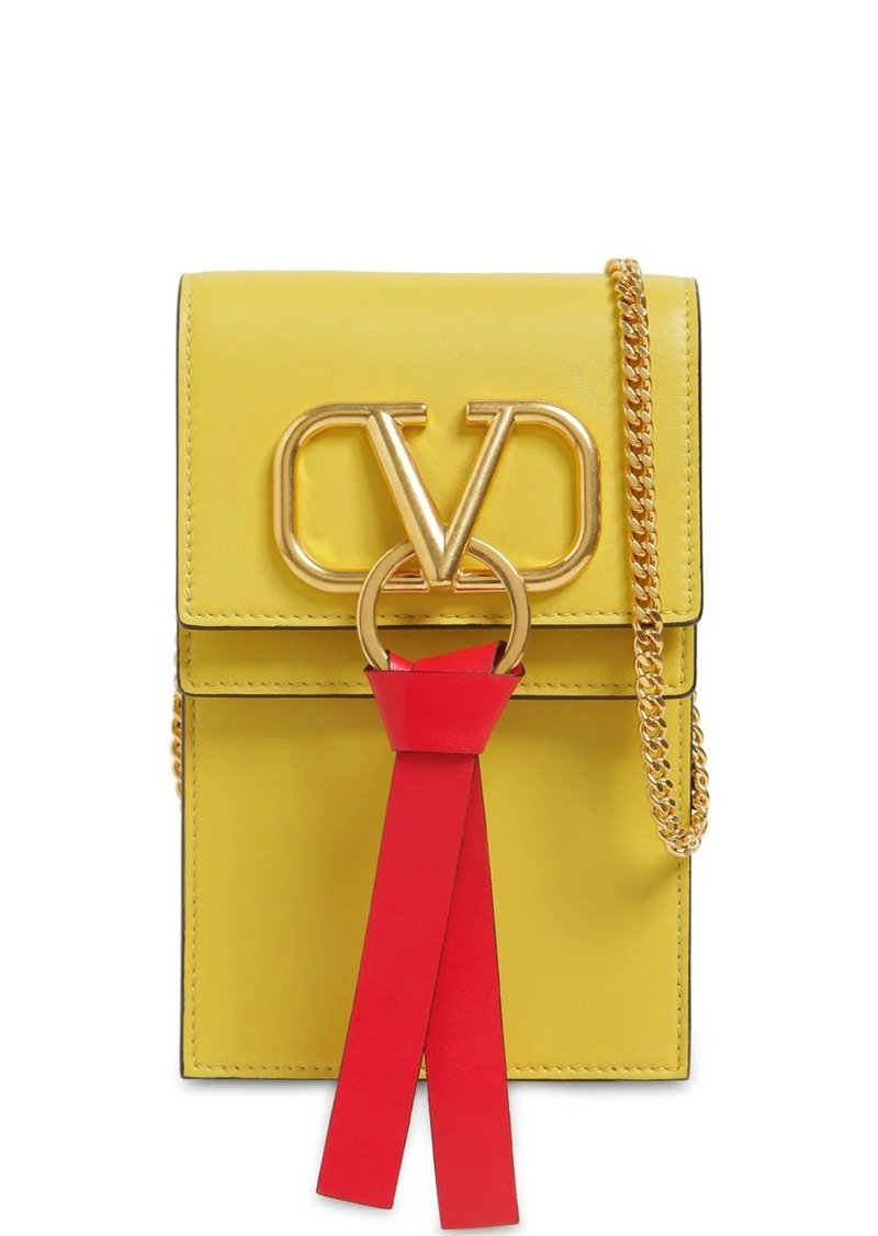 Valentino Vring Smooth Leather Chain Shoulder Bag