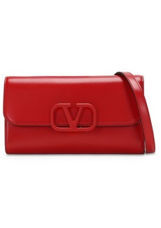 Valentino Vsling Leather Clutch