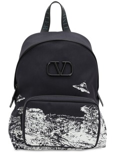 Valentino Vu Time Traveler Nylon Backpack