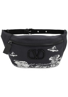 Valentino Vu Time Traveler Printed Nylon Belt Bag