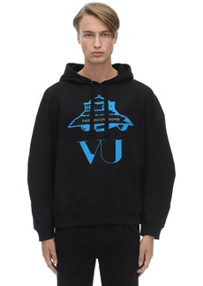 Valentino Vu Ufo Printed Cotton Sweatshirt Hoodie