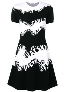 Valentino wave logo mini dress