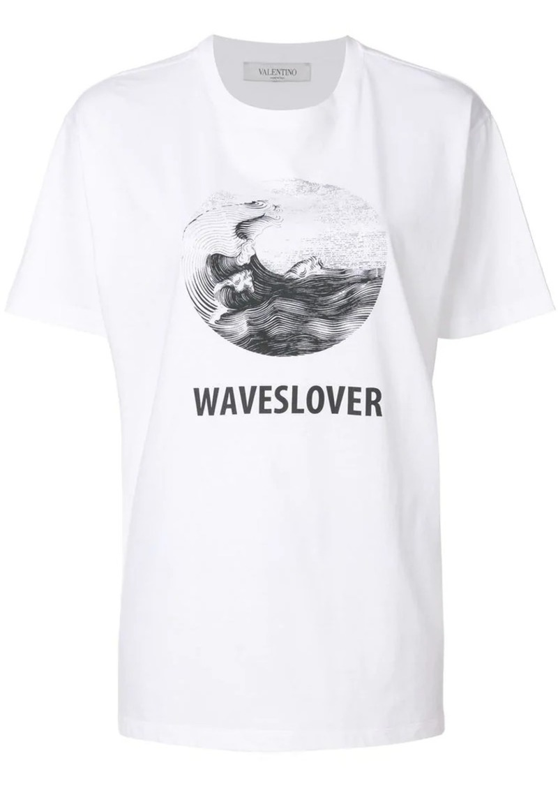 Valentino waves lover print T-shirt