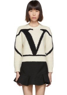 Valentino White & Black VLogo Sweater