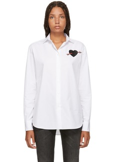 Valentino White Heart Shirt