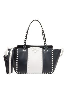 Valentino White Rockstud Small Leather Tote
