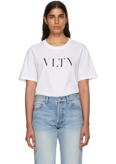Valentino White 'VLTN' T-Shirt