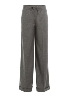 Valentino Wide Leg Wool Pants with Cashmere