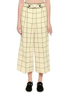 Valentino Windowpane Wool Culottes