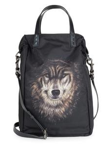 Valentino Wolf-Print Nylon Tote