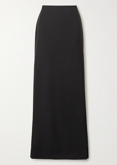 Valentino Wool And Mohair-blend Maxi Skirt