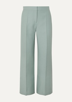 Valentino Wool And Silk-blend Crepe Flared Pants