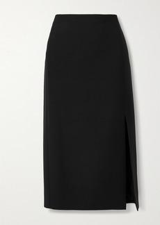 Valentino Wool And Silk-blend Midi Skirt