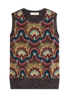 Valentino Wool Vest with Metallic Thread