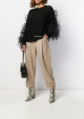"""Valentino """"Wrap Me. Free Me. See Me"""" feathered jumper"""