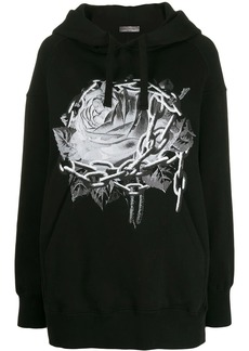 Valentino x Undercover Chain Rose hoodie
