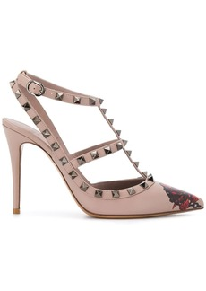 x Undercover Valentino Garavani Rockstud Rose and Chain print 100mm pumps
