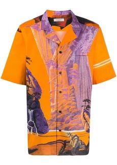 Valentino Yellow City button-up shirt