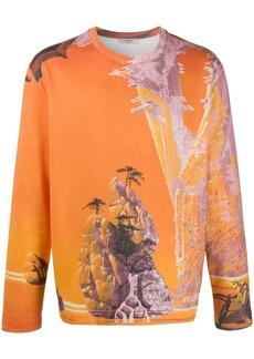 Valentino Yellow City printed sweatshirt