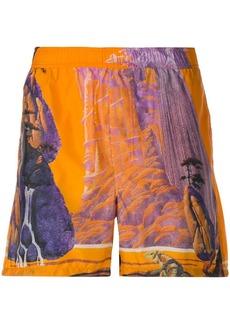 Valentino Yellow City swim shorts