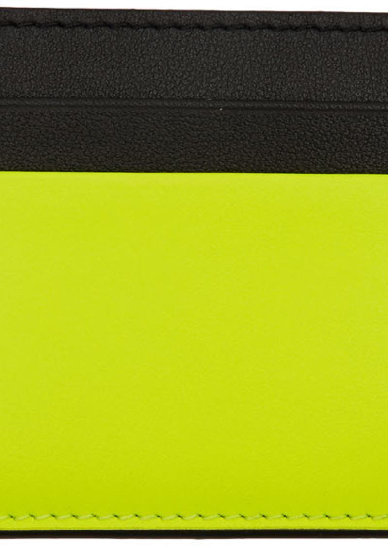 Yellow Valentino Garavani Rockstud Card Holder