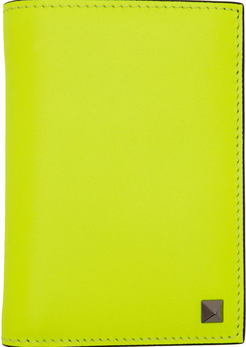 Yellow Valentino Garavani Rockstud Pocket Organizer