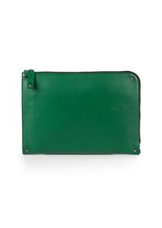 Valentino Zip-Around Leather Document Case