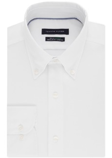 Van Heusen Tommy Hilfiger Men's Classic/Regular Fit Th Flex Non-Iron Supima Stretch Solid Dress Shirt