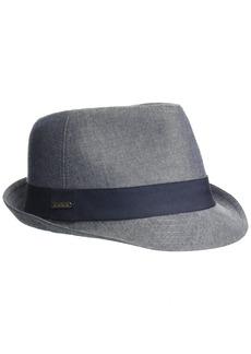 Van Heusen Chambray Men's Fedora Hat with Grosgrain Headband