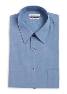 Van Heusen Printed Cotton Dress Shirt