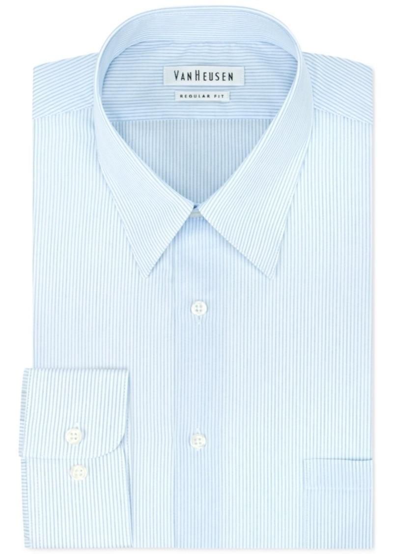 Van heusen van heusen glacier fineline stripe dress shirt for Van heusen dress shirts