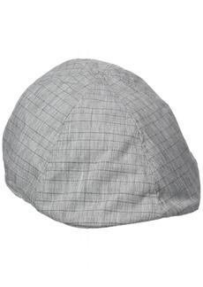 Van Heusen Lightweight Linen Ivy Men's Flat Cap Box Check Pattern