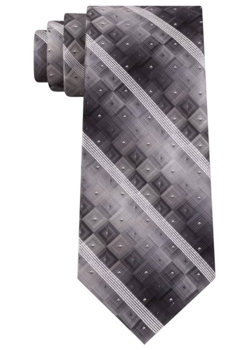 Van Heusen Men's Aaron Stripe Geometric Tie
