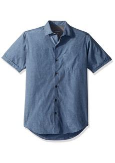 Van Heusen Men's Air Heather Short Sleeve Shirt