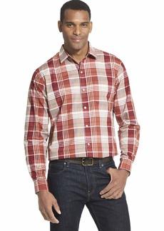 Van Heusen Men's Air Long Sleeve Button Down Shirt red barn