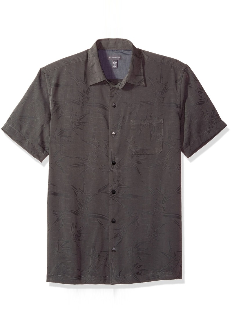 90d443035c7 Van Heusen Van Heusen Men s Air Print Short Sleeve Shirt Black ...