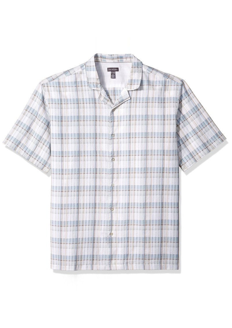 f1f385ecd49 Van Heusen Van Heusen Men s Air Pucker Texture Short Sleeve Shirt ...