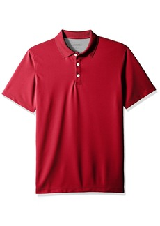 Van Heusen Men's Air Short Sleeve Polo deep Rio red