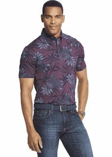 Van Heusen Men's Air Short Sleeve Soft Touch Print Polo Shirt