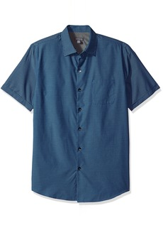 Van Heusen Men's Air Short Sleeve Yarndye Shirt