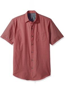 Van Heusen Men's Air Windowpane Short Sleeve Shirt