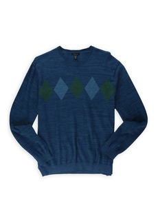 Van Heusen Men's Argyle Chest Stripe Sweater