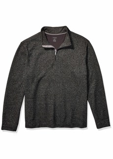 Van Heusen Men's Big & Tall Big Flex Long Sleeve 1/4 Zip Soft Sweater Fleece  2X-Large Tall