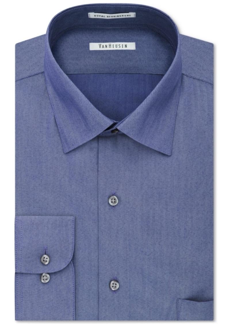 Van heusen van heusen men 39 s classic fit wrinkle resistant for Wrinkle resistant dress shirts