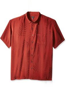 Van Heusen Men's Big and Jacquard Short Sleeve Shirt  X-Large Tall