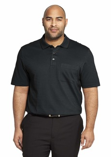 1ddef55ce Van Heusen Men's Big and Tall Flex Short Sleeve Stretch Stripe Polo Shirt  4X-Large