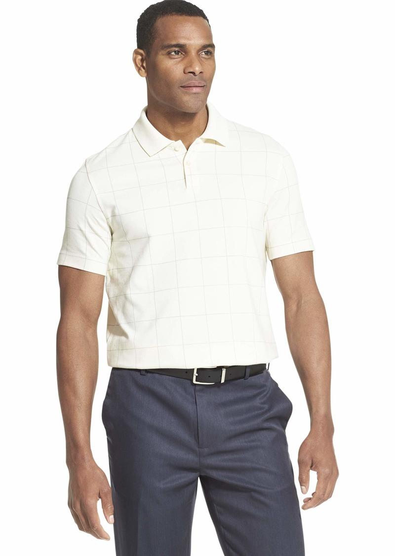 Van Heusen Men's Big and Tall Flex Short Sleeve Stretch Windowpane Polo Shirt  4X-Large