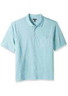 Van Heusen Men's Big and Tall Jacquard Short Sleeve Polo  4X-Large Tall